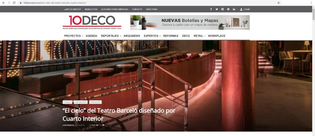 10DECO - El Cielo de Barcelo - Cuarto Interior [2015] Espa§a