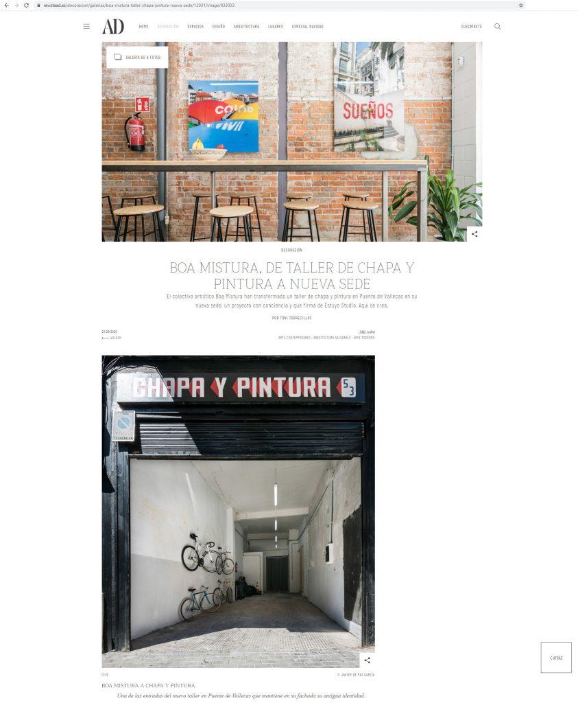 AD Spain ˙ Boa Mistura Headquarters ˙ Estuyo Estudio [Sept 2020]