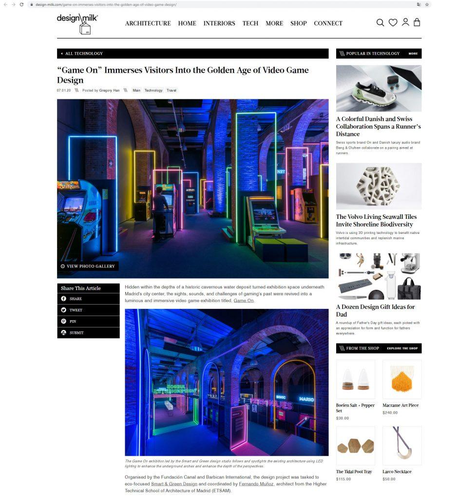 DESIGN MILK Game On ˙ Smart & Green Design [Julio 2020]