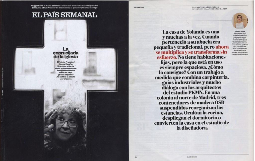 EL PAIS SEMANAL Nß1996 All I Own House - PKMN [Diciembre 2014] 01