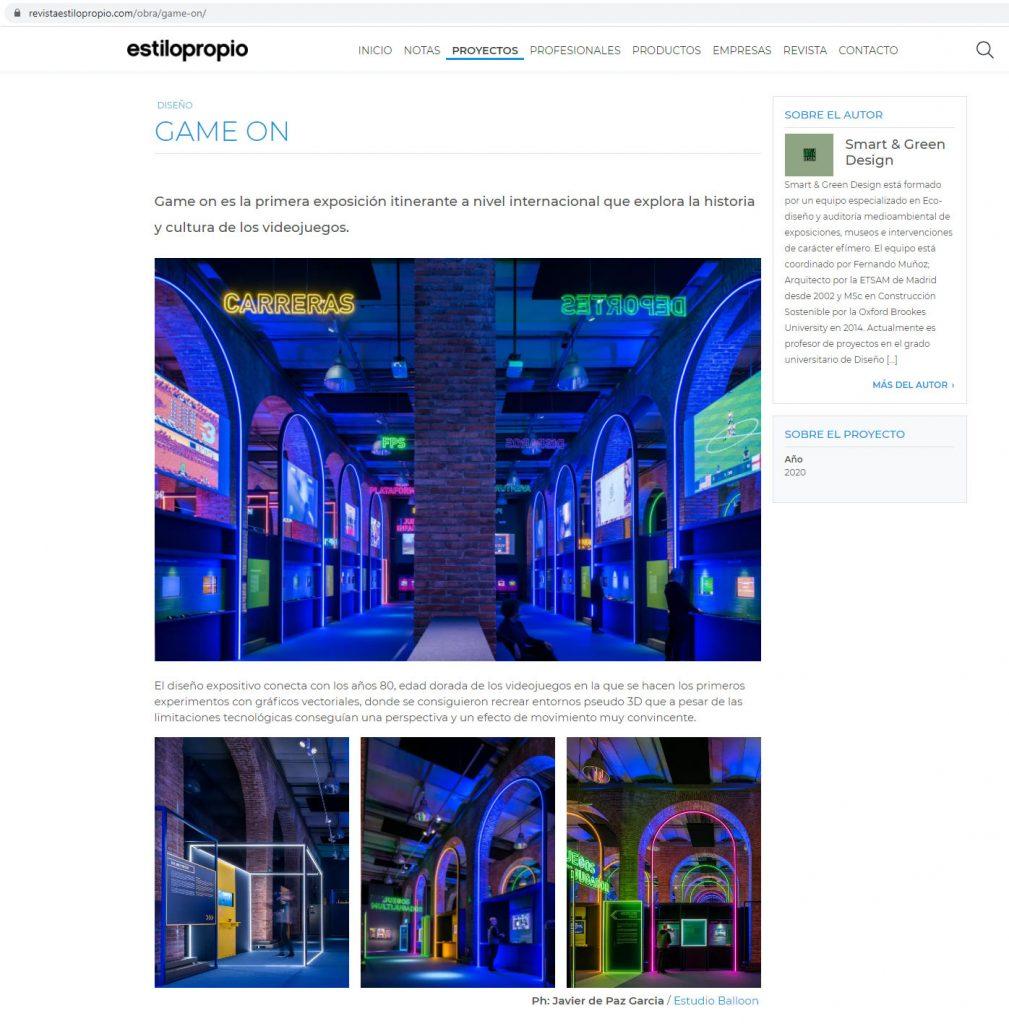 Estilo Propio - Game On ˙ Smart & Green Design [Junio 2020]