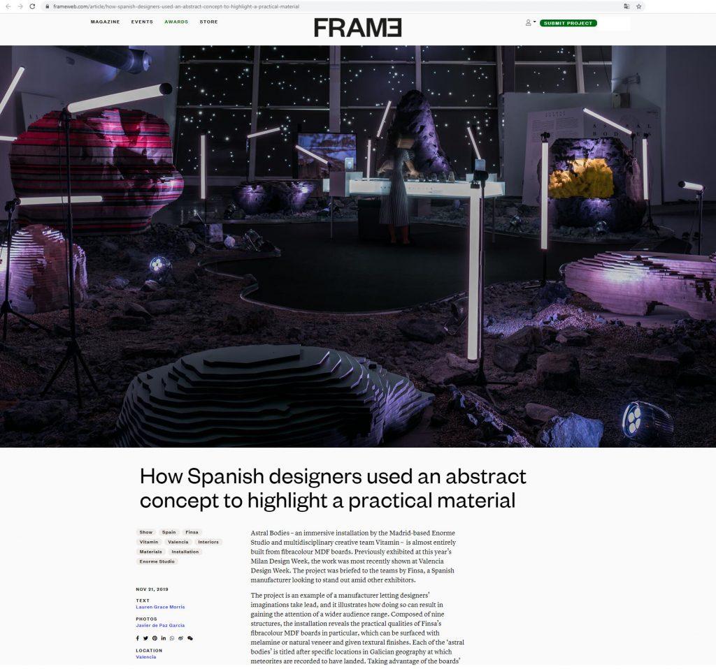FRAME Magazine - Astral Bodies (Valencia) Enorme [Noviembre 2019] Holanda